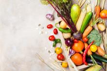 Autumn Farm Vegetables And Roo...