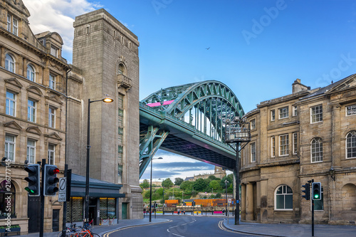 Obraz The Tyne Bridge across the river Tyne in Newcastle - fototapety do salonu