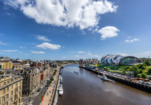 Looking Down The Tyne River To...