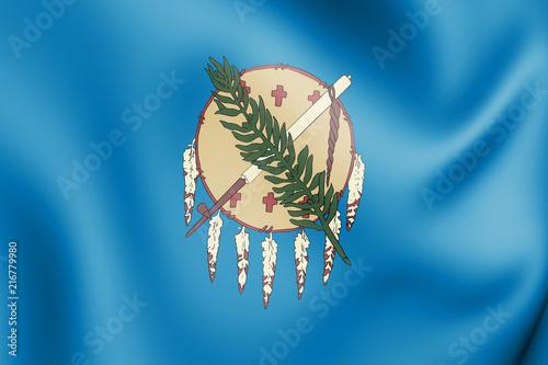 Fotografia  3D Flag of Oklahoma (1925-1941), USA.