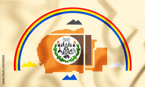 3D Flag of Navajo Nation. Canvas Print