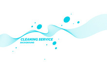Conceptual Poster For Cleaning Service On A White Background.