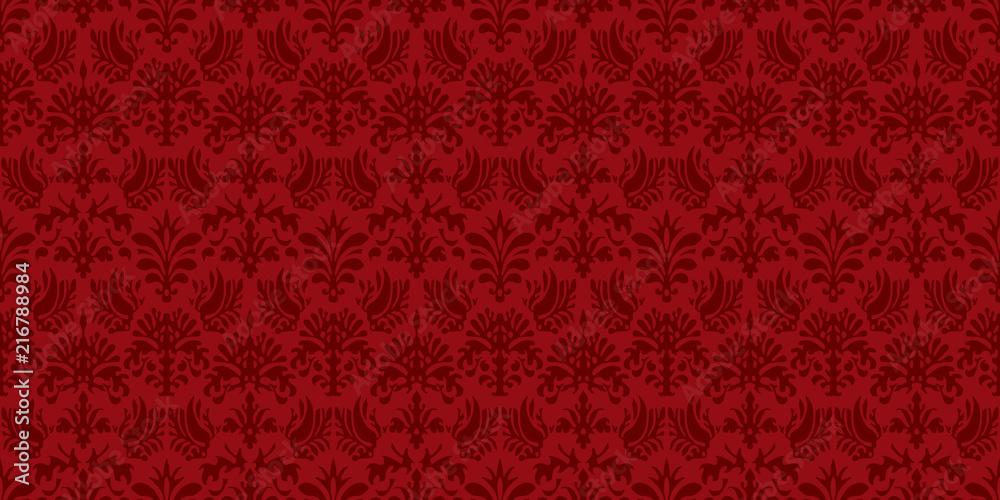 Fototapeta Damask background. Seamless pattern.Vector. ダマスクパターン