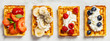 canvas print picture - Traditional belgian waffles with whipped cream and fresh fruits