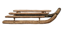 Vintage Brown Wooden Sledges I...