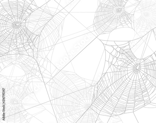 Foto spooky spider web silhouette design - black and white halloween theme vector bac