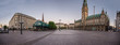Hamburg City Hall is the seat of local government of the Free and Hanseatic City of Hamburg, Germany. Panorama.