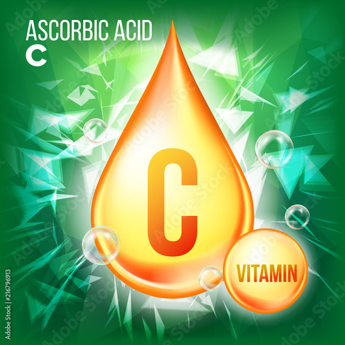 Vitamin C Ascorbic Acid Vector Canvas Print