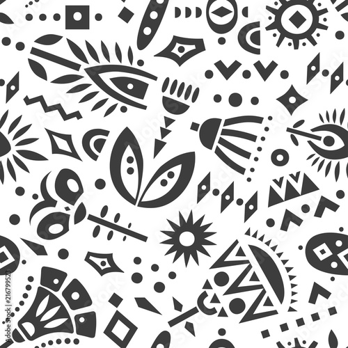 wektor-wzor-czarny-wyciac-kwiaty-i-ksztalty-geometryczne