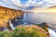 Sunset At Cliffs Of Moher, Cou...
