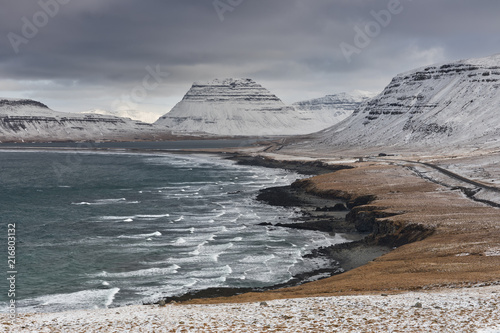 Fotobehang Landschap the magical landscape of the Snaefellsness peninsula, Vesturland, Western Iceland, Europe