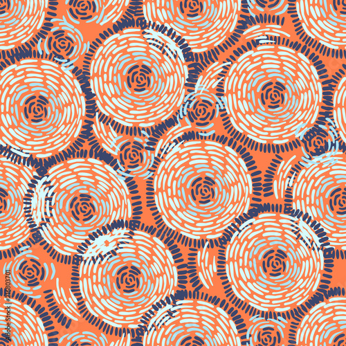 Foto auf AluDibond Boho-Stil Abstract Ikat and boho style handcraft fabric pattern for girls, boys, clothes. Traditional Ethnic design for clothing and textile background, carpet or wallpaper. Fashion style. Colorful bright
