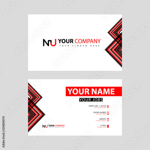 Fotografie, Obraz  Business card template in black and red