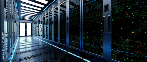 Fototapeta Backup cloud data service center. 3D rendering obraz