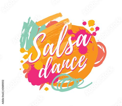 Salsa dance vector logotype Canvas Print