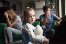 Frustrated Little Girl Upset T...