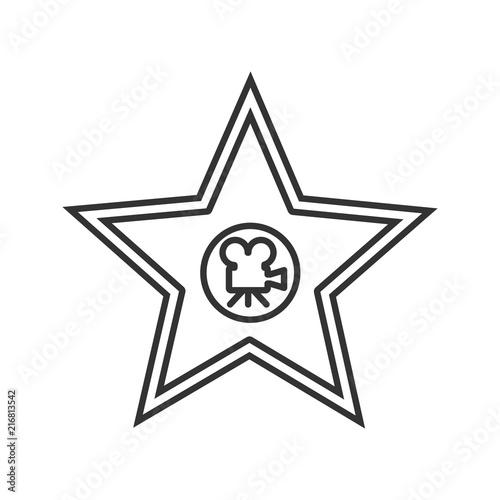 Valokuva Movie star plaque linear icon