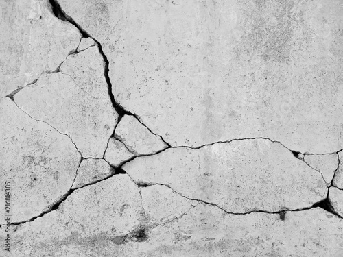 Foto op Plexiglas Historisch geb. crack concrete wall background