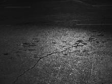 Asphalt Road Background With Light And Crack
