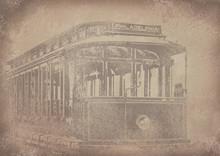 """Old Vintage Grunge Paper Tram/streetcar """"Philadelphia"""" Background - Historisches Papier Mit Straßenbahn Motiv"""