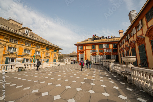 Foto op Aluminium Artistiek mon. Palazzo Brignole-Sale detto Palazzo Rosso, il Sistema dei Palazzi dei Rolli, Genova, Liguria, Italia