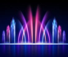 Fountain Night Realistic Image