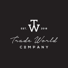 Simple Initial TW Logo Design Inspiration