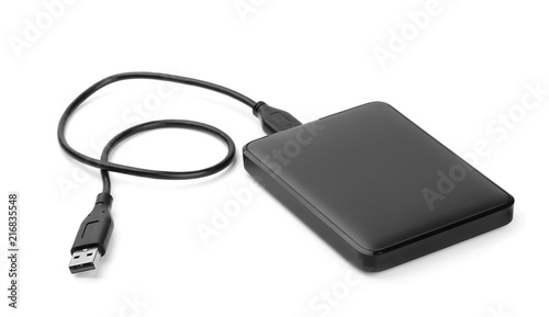 Fototapeta Portable external hard drive obraz