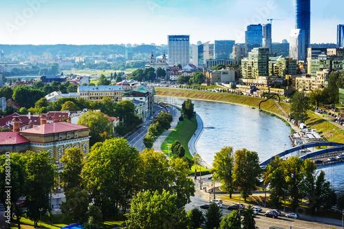VILNIUS, LITHUANIA - September 2, 2017: view of modern Buildings around Vilnius, Lithuanian