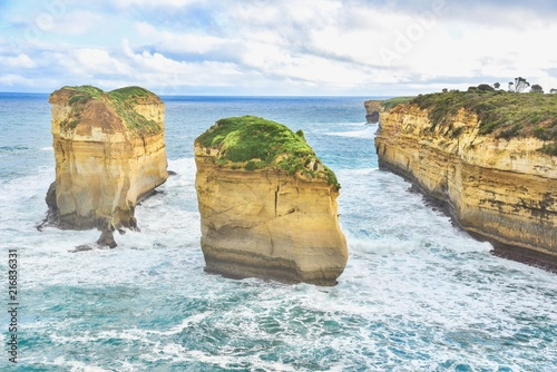 Poster Oceanië View of the Loch Ard Gorge in Port Campbell, Australia
