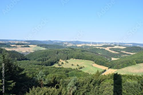 Foto op Aluminium Khaki Eifellandschaft aus der Vogelperspektive, vom Gänsehalsturm