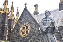 Religious Statue Of St. Francis Of Assisi At St. Patrick's Cathedral
