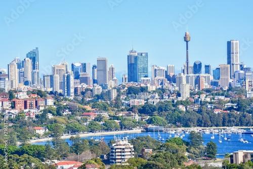 Poster Oceanië Sydney Skylines in a Central Business District or CBD