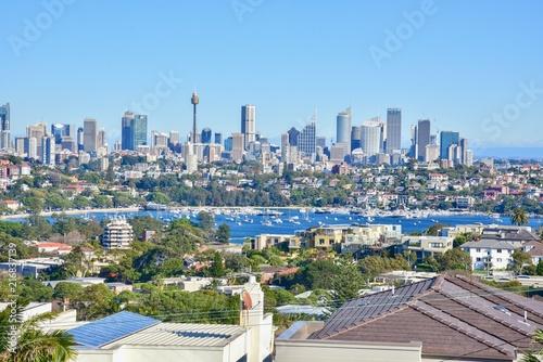 Poster Oceanië Scenery of Modern Skylines in Downtown Sydney