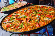 Spanish Paella Prepared In The...