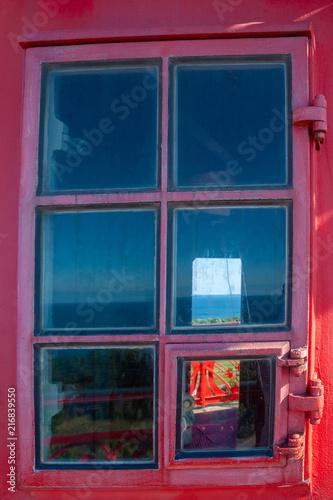 Fototapeta Window of the new lighthouse at Cape Arkona obraz na płótnie