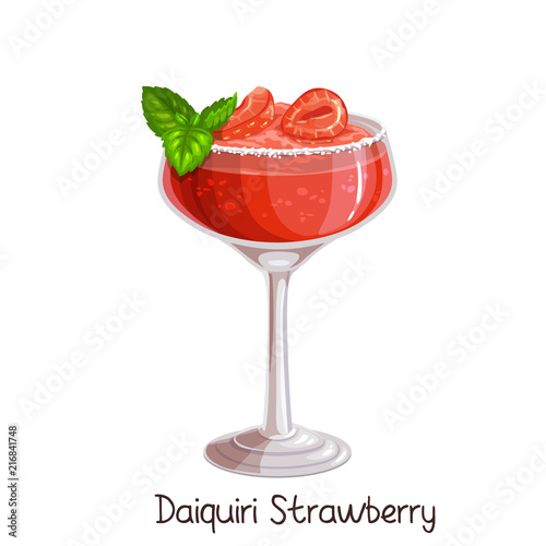 Valokuva strawberry daiquiri cocktai