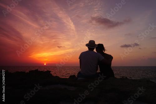 Fotografia, Obraz  Sonnenuntergang auf Gozo bei Azure Window, Malta