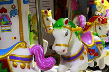 Merry O Round Colorful Carousel Horses For Little Baby Kids