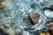Steinherz Im Wasser