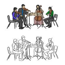 Group Of Musicians Playing In ...