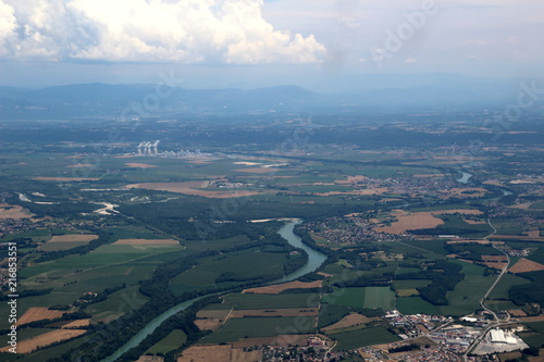 Vue aérienne de la Vallée du Rhône Canvas Print