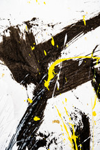 Japanese Calligraphy And Water Paint On Japanese Paper