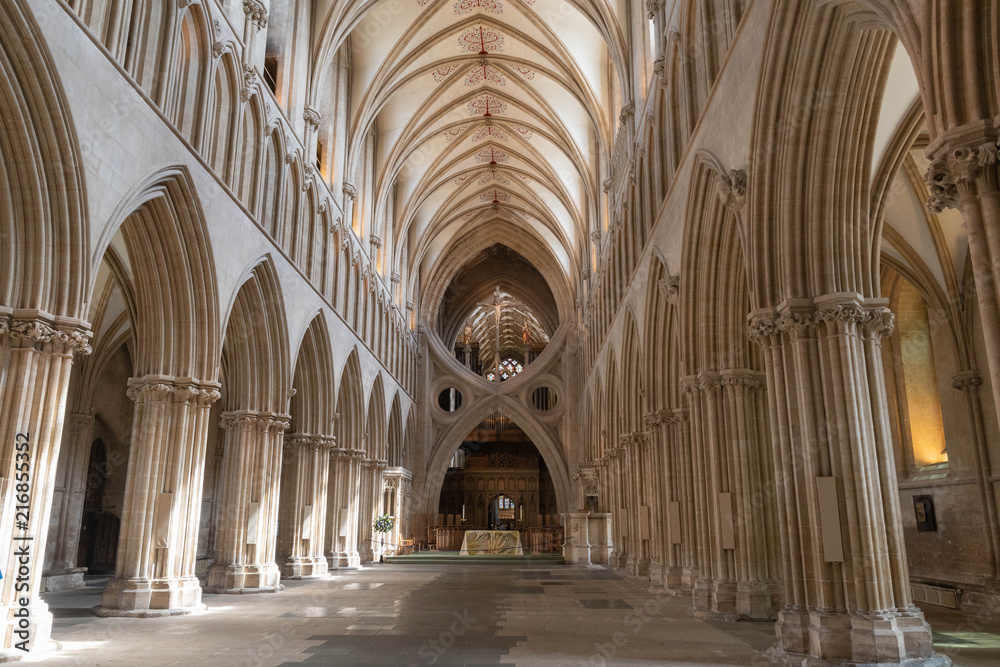 Fototapety, obrazy: Wells cathedral Nave and scissor arch