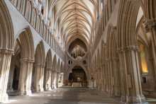 Wells Cathedral Nave And Scissor Arch