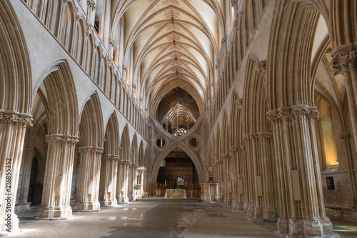 Wells cathedral Nave and scissor arch Slika na platnu
