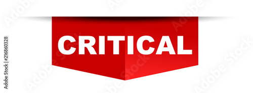 Fotomural  red vector banner critical