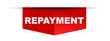 red vector banner repayment