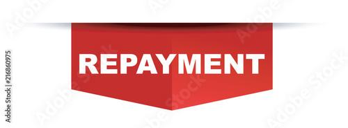 Foto red vector banner repayment
