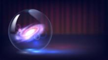 Magic Crystal Ball Of Divination. Interpretation Of Dreams, Psychic, Fortune Telling